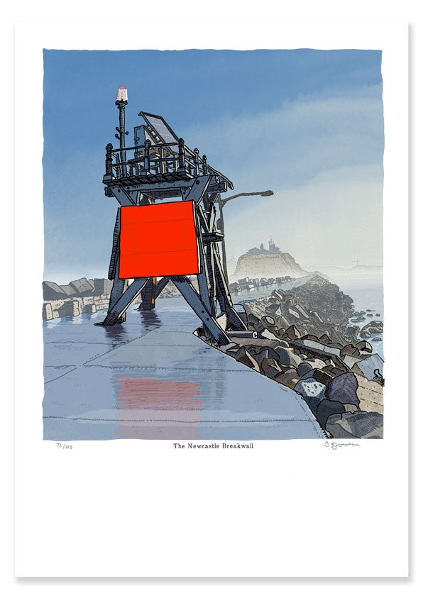 Image of The Newcastle Breakwall,      Limited Edition print