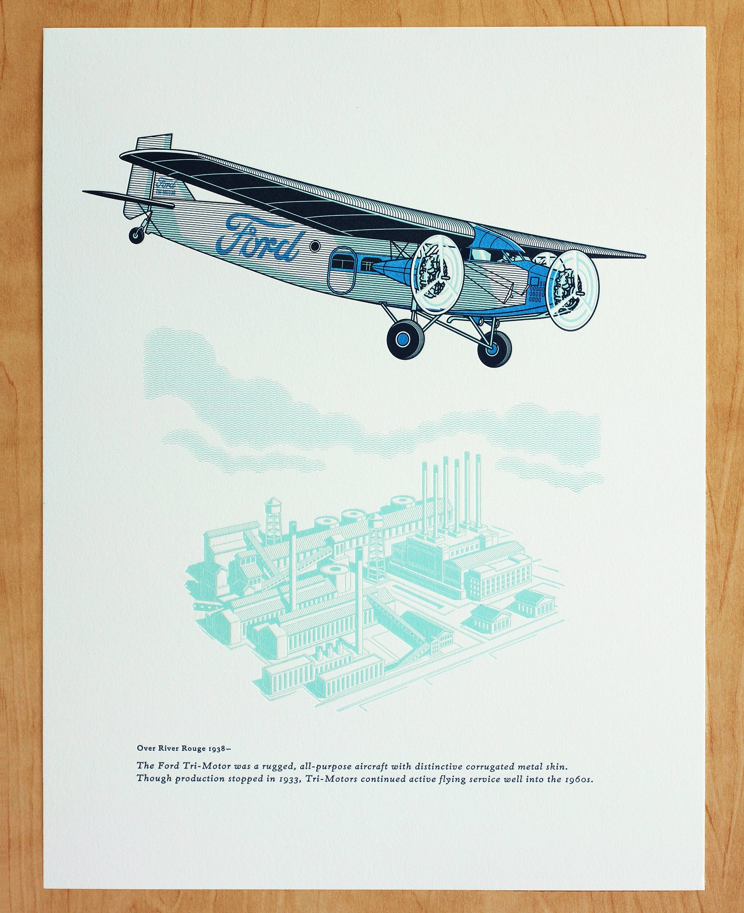Image of FORD TRI-MOTOR AIRPLANE Print