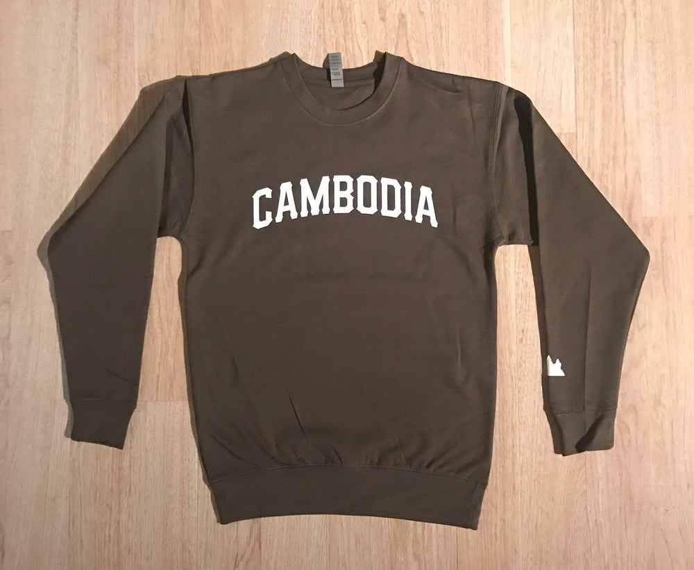 Image of REP CAMBODIA CREWNECK SWEATER (Burgundy, Olive, Black)