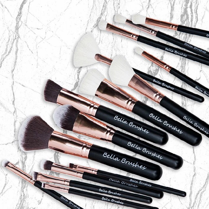 Image of Rose Gold 15 Piece Brush Set