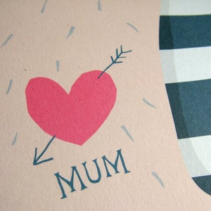 Image of Mother's day card / I heart Mum Tattoo / FSC Certified paper
