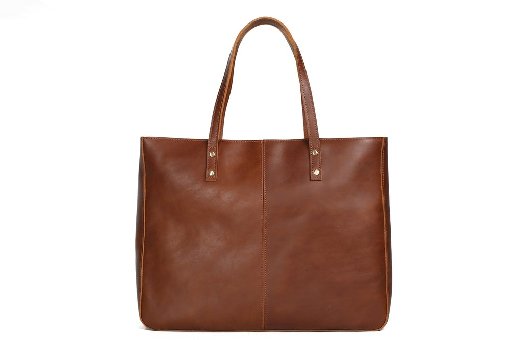 Image of Handmade Full Grain Women Leather Tote Bag, Diaper Bag, Shoulder Bag, Handbag YD8050