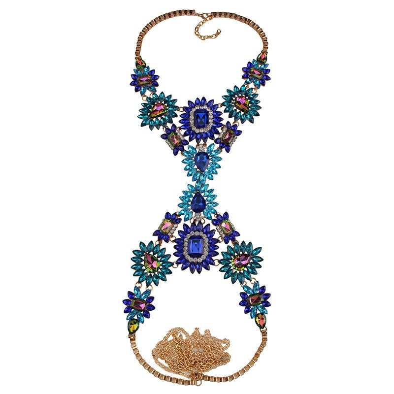 Image of Unapologetic Body Statement Necklace BLUE