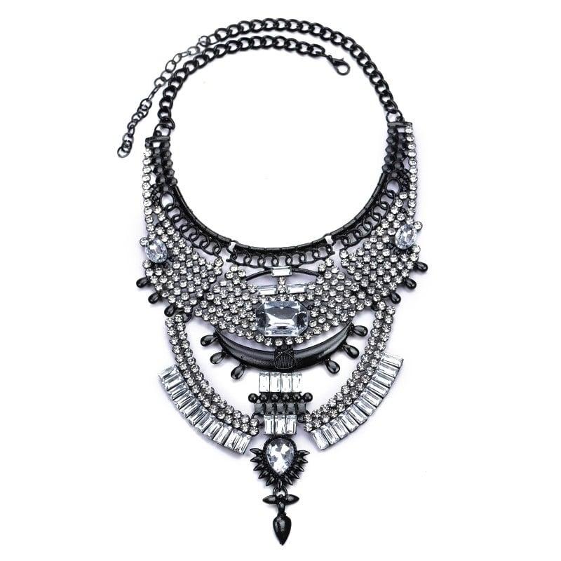 Image of The Slayed Statement Necklace GUNMETAL