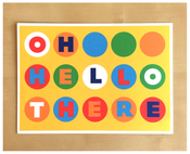 Image of Oh Hello There Dots Postcard