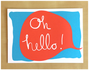 Image of Oh Hello Speech Bubble Postcard