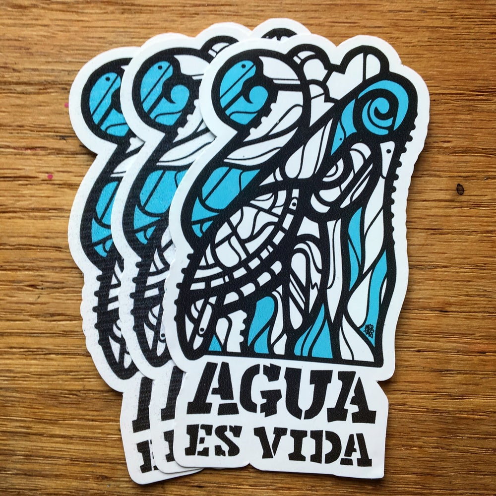 Image of Agua Es Vida | Water Is Life Stickers