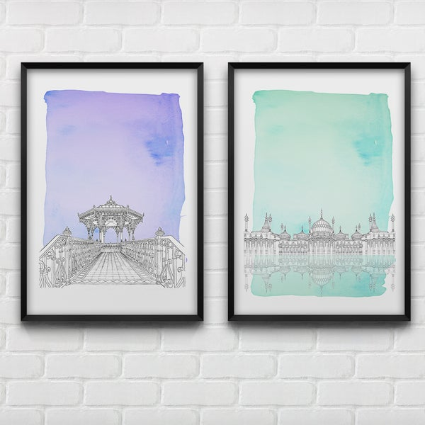Image of Brighton's Icons drawings