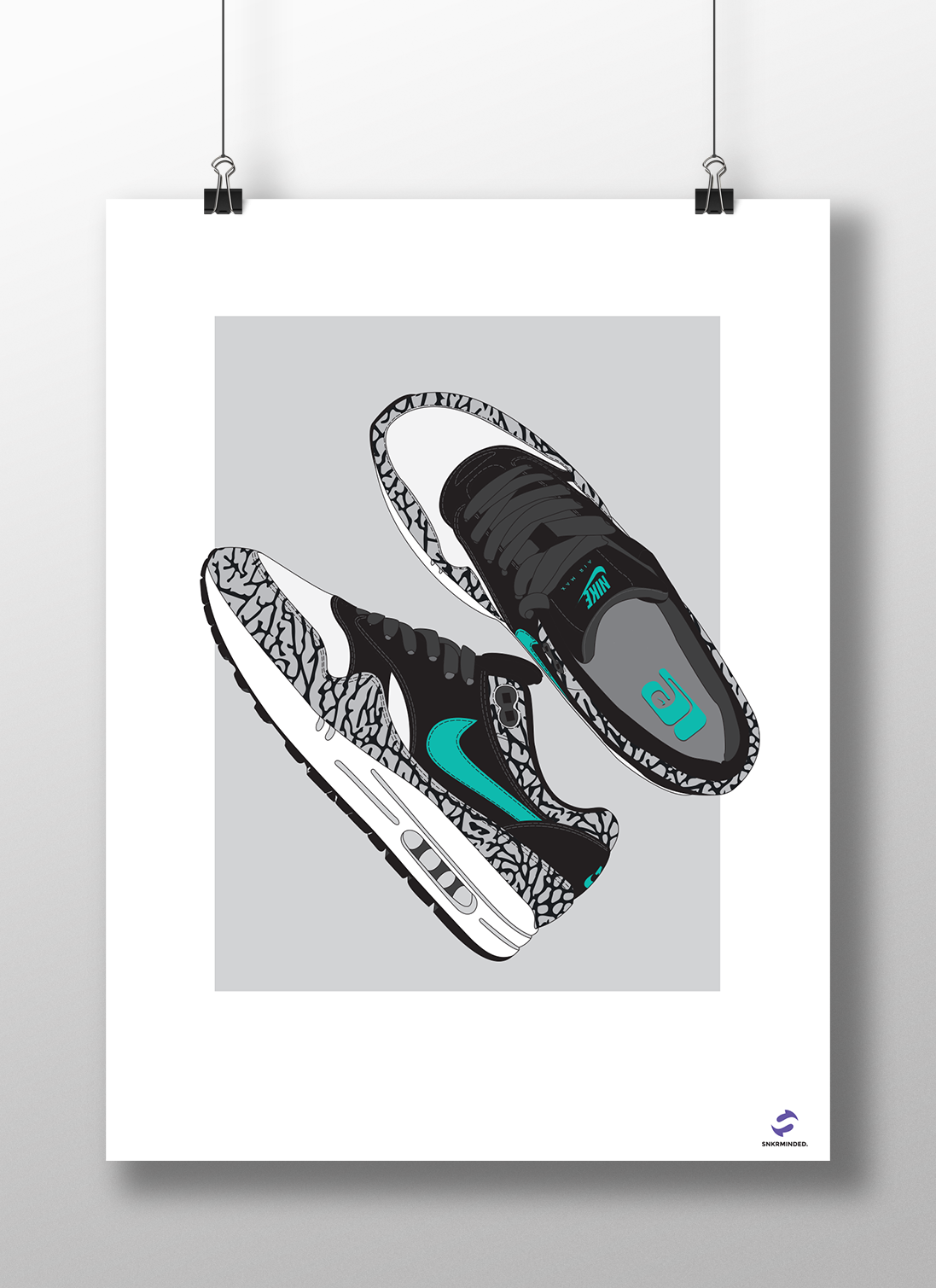 newest 91875 4733a ... Image of Nike Air Max 1 Elephant poster ...