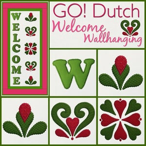 Image of Welcome Wall Hanging Machine Embroidery and Pattern