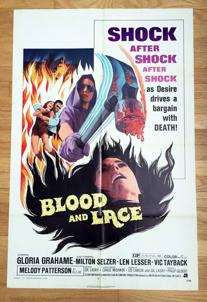 Image of 1971 BLOOD & LACE Original U.S. One Sheet Movie Poster