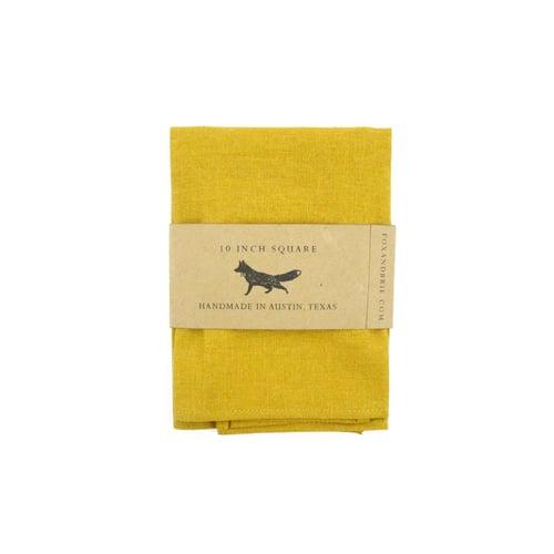 Image of Mustard Linen Pocket Square