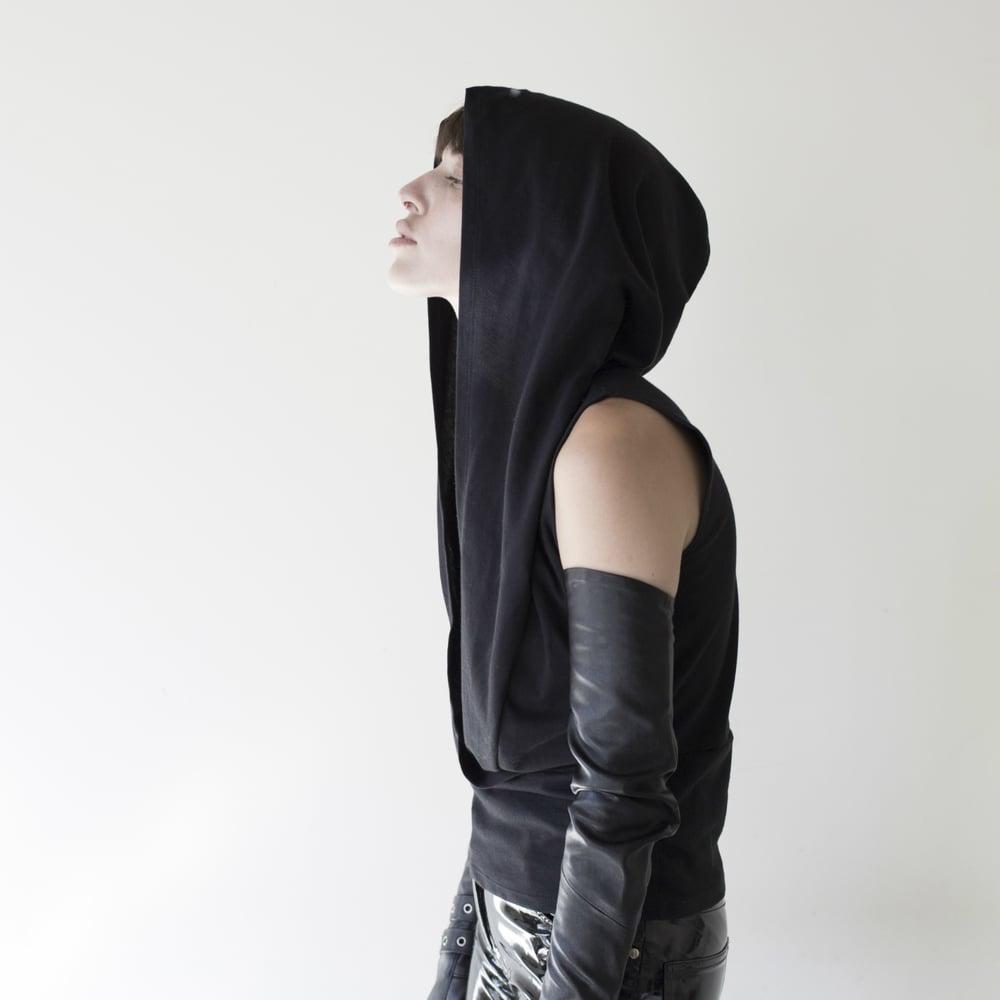Image of KMPEC sleeveless kimono hoodie