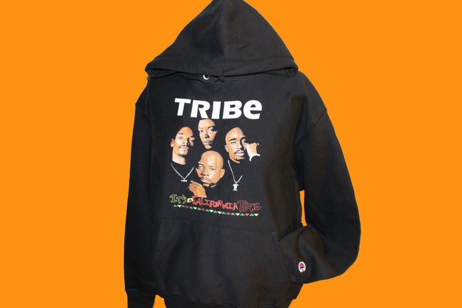 "Image of DEATH ROW LEGENDS ""TRIBE"" (CHAMPION) [4EV HOODIE]"
