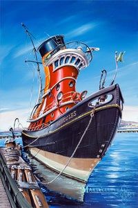 Image of SS Hercules Open Edition Canvas Giclee