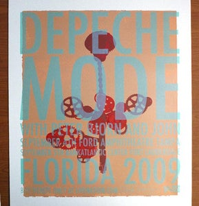Image of Depeche Mode gigposter