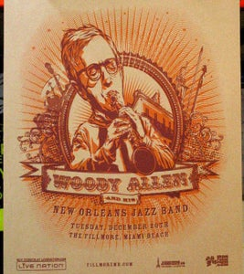 Image of Woody Allen and his New Orleans Jazz Band gigposter