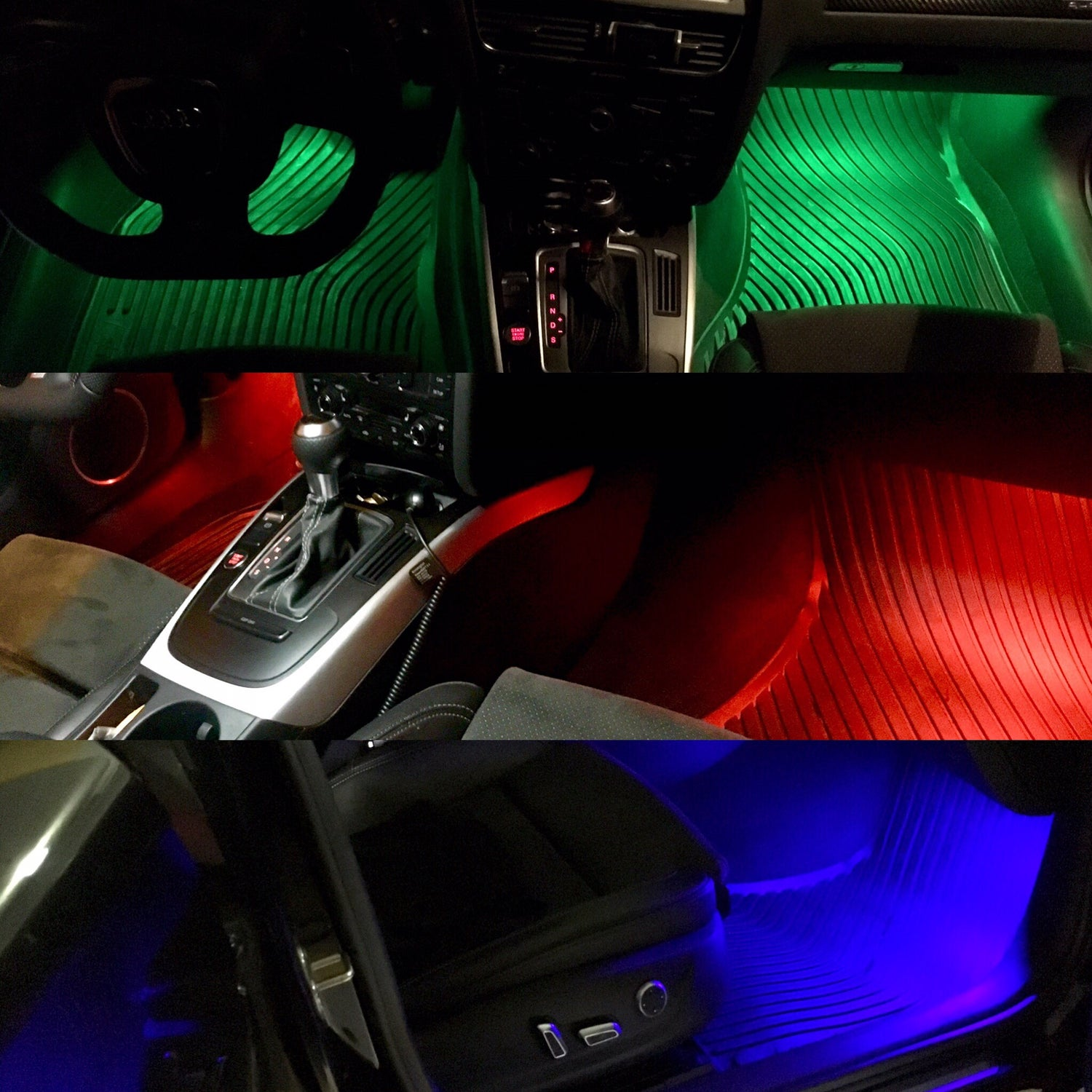 Image of Remote Control Color Changing Footwell LEDs Fits: All Audi & Volkswagen Models