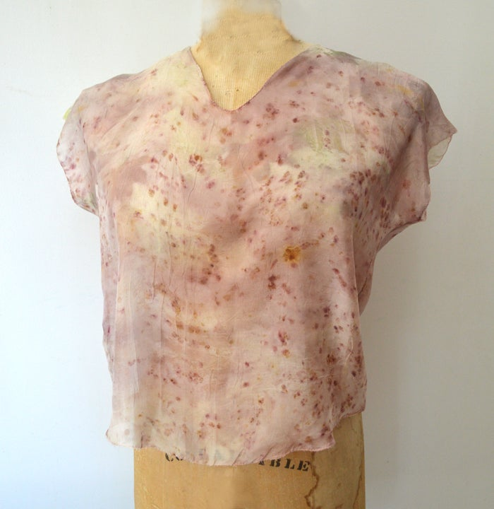 Image of eco print tissue tee