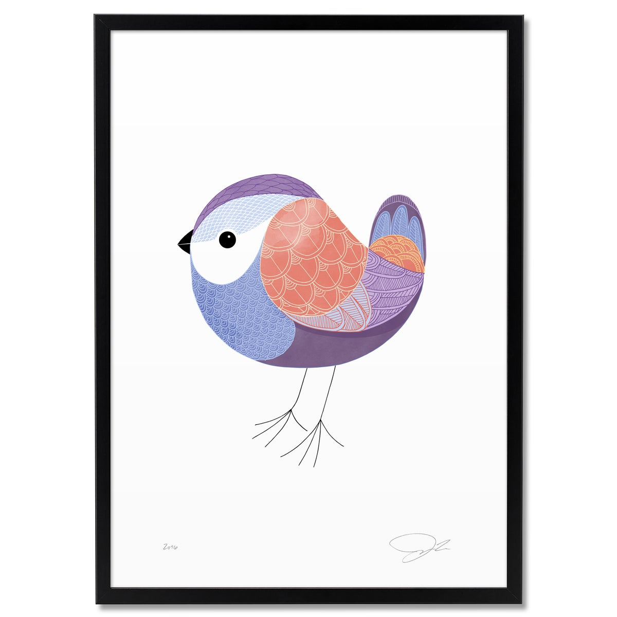 Image of Print: Coloured Bird I