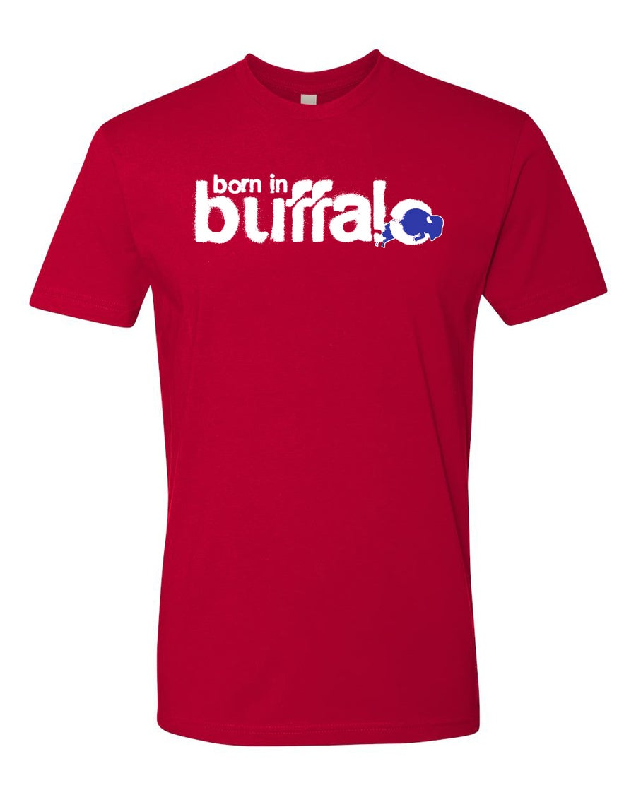 Image of Born in Buffalo Classic T-shirt RED