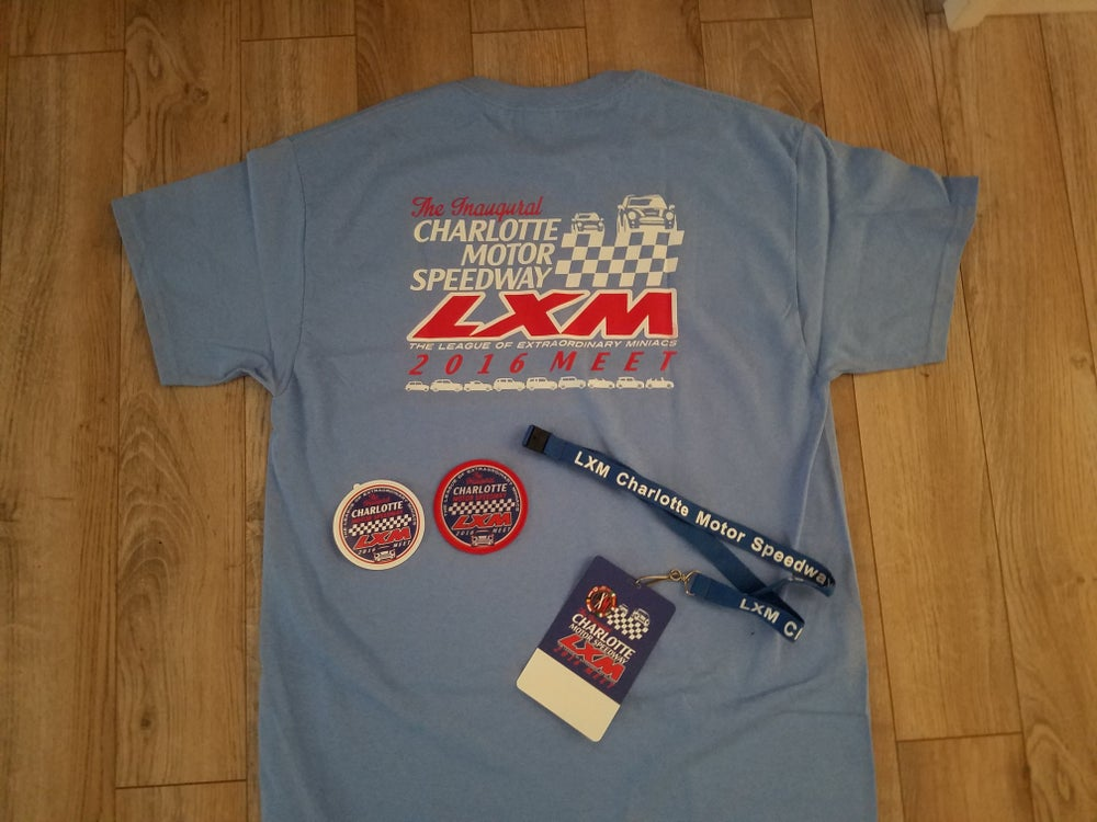 Image of THE INAUGURAL CHARLOTTE MOTOR SPEEDWAY LXM MEET 2016 COLLECTOR SWAG PACK