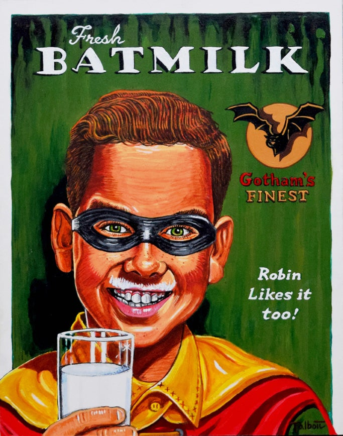 "Image of ""Fresh Batmilk"" signed canvas print"