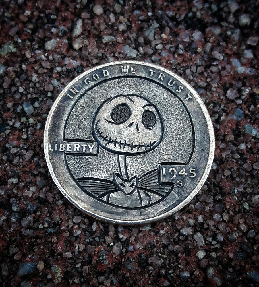 Image of Skellington Jack coin - Made To Order