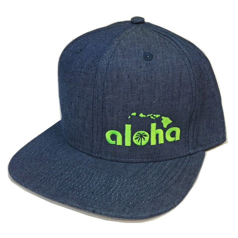 Image of Aloha Blue Denim Snapback Hat
