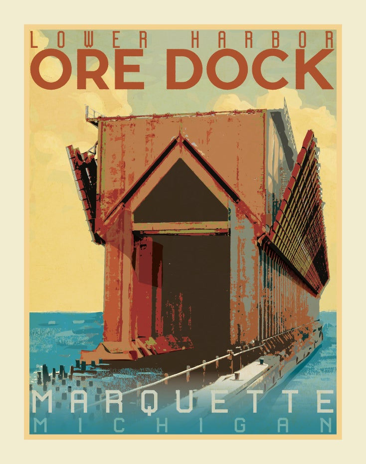 Image of Lower Harbor Ore Dock 11x14 Print No. [070]