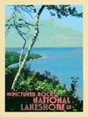 View from a Bluff in Pictured Rocks National Lake Shore Print No. [074]