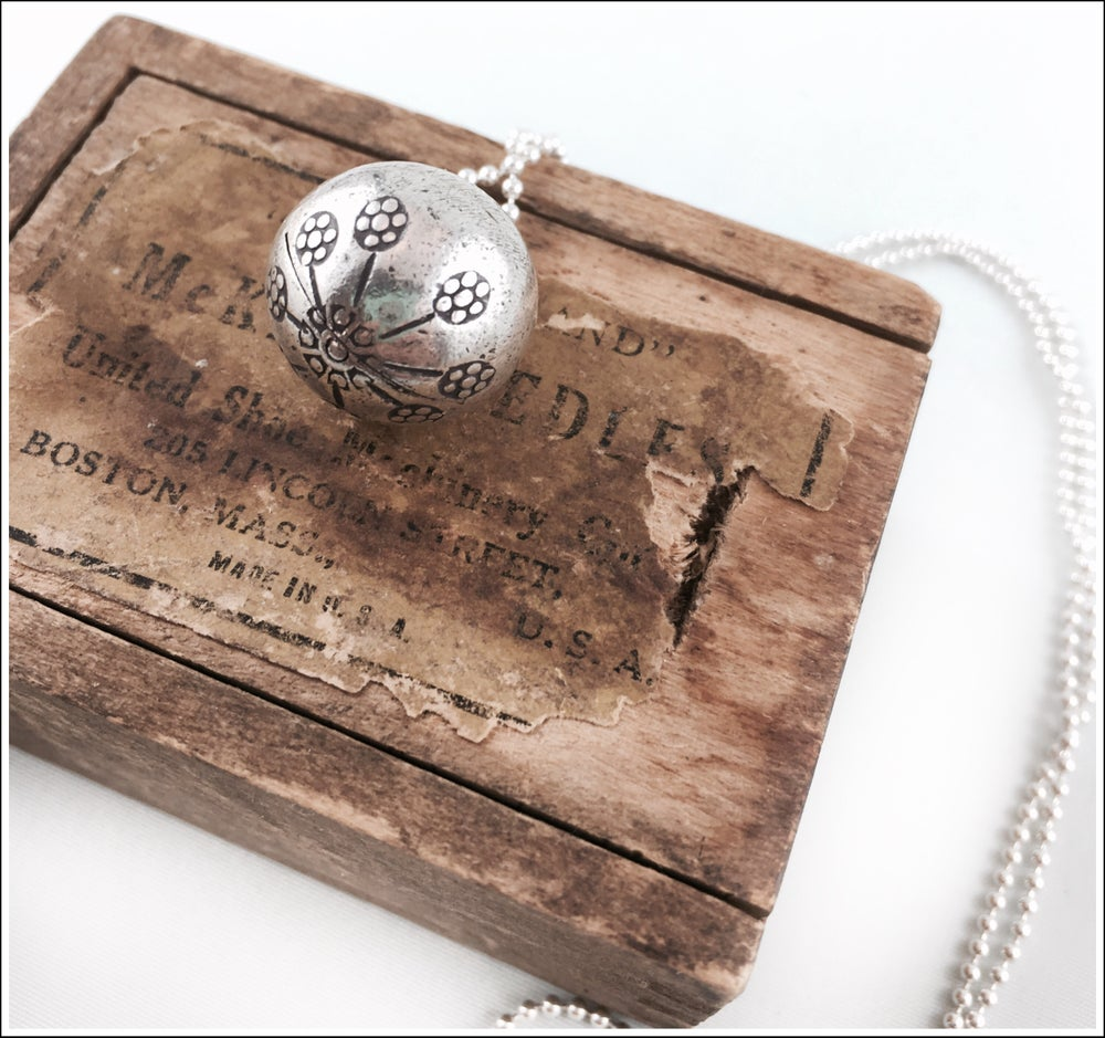 Image of Sterling silver Melody ball pendant necklace