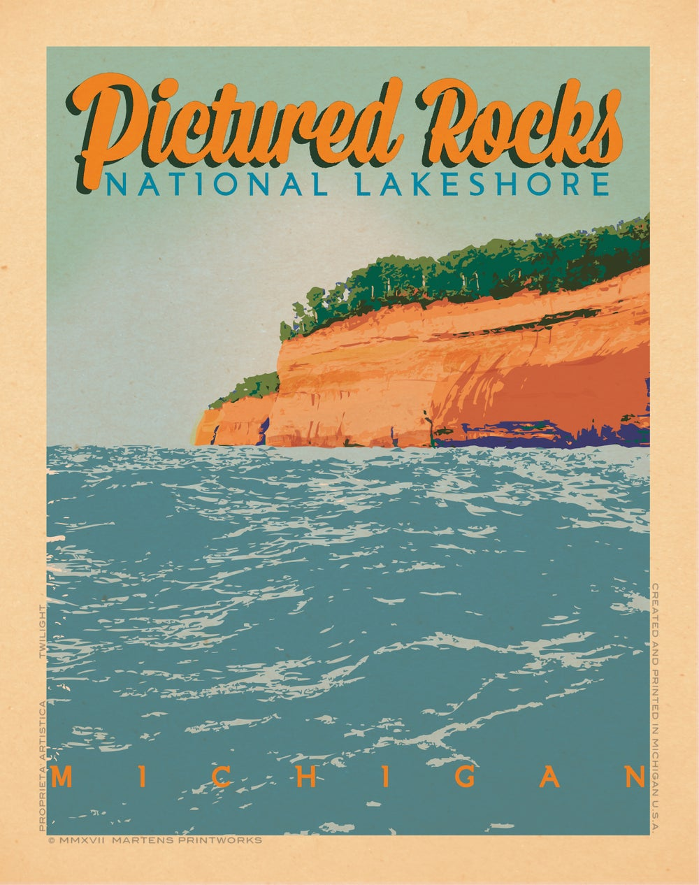 Image of Pictured Rocks in Pictured Rocks National Lake Shore 11x14 Print No. [073]