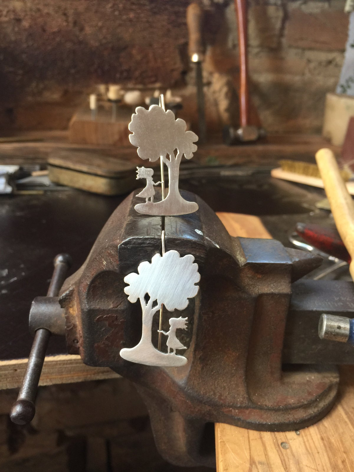 Girl and Tree Earrings