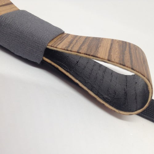 Image of Wooden Bow Tie Zebrawood Slim