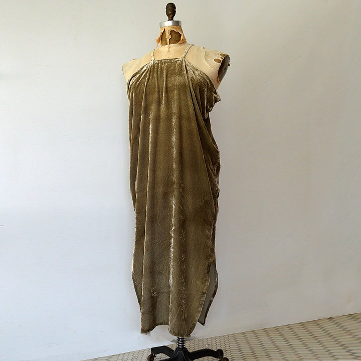 Image of logwood silk velvet dress