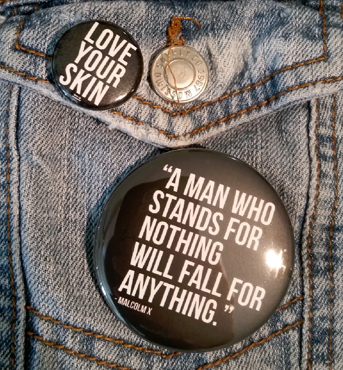 Image of Malcolm X Quote 2.25 Pin Back Button
