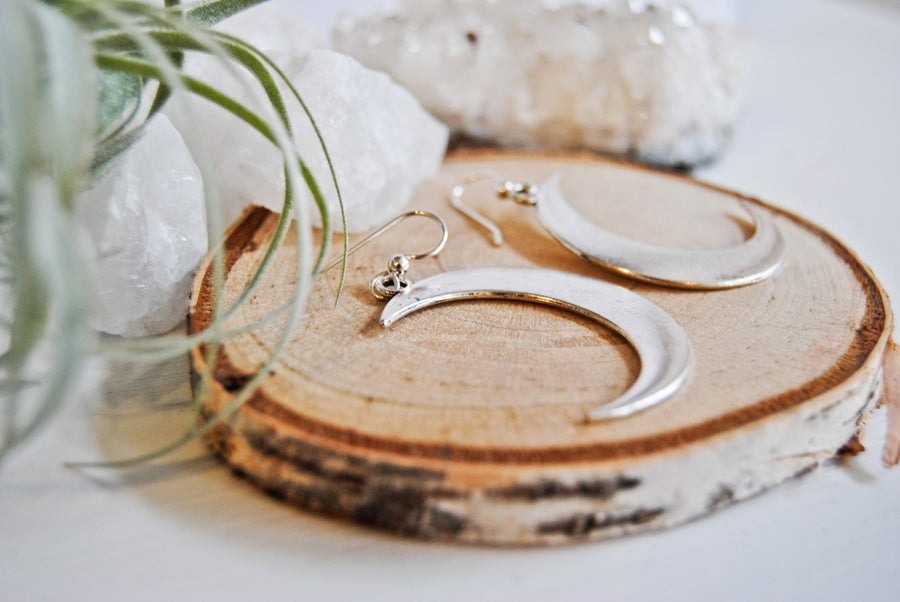 Image of Moon goddess earrings