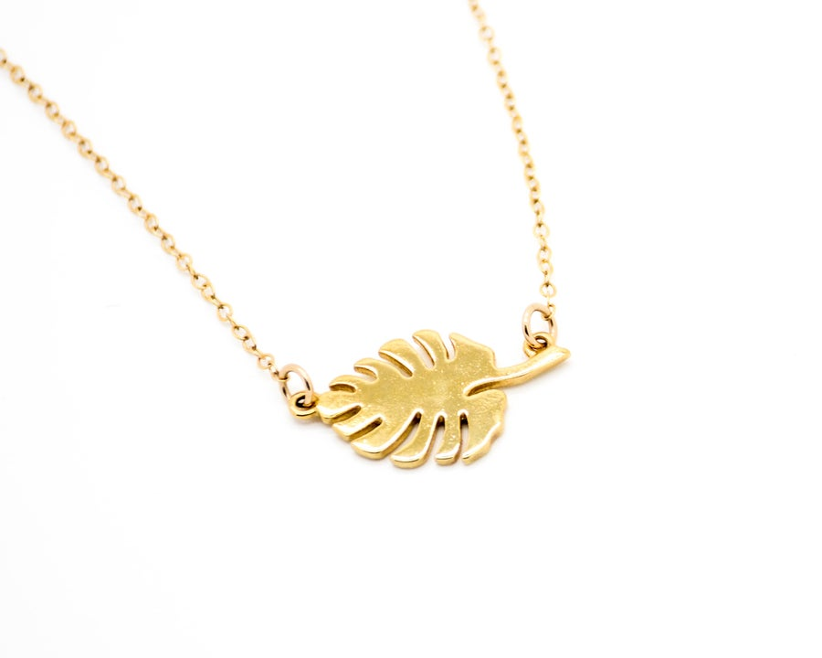 Image of Monstera Leaf Necklace (Pre-Sale 4-5 weeks to ship)