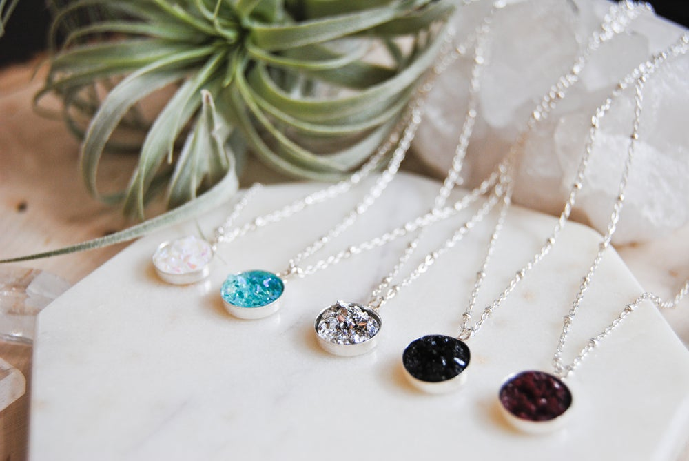 Image of Druzy necklaces