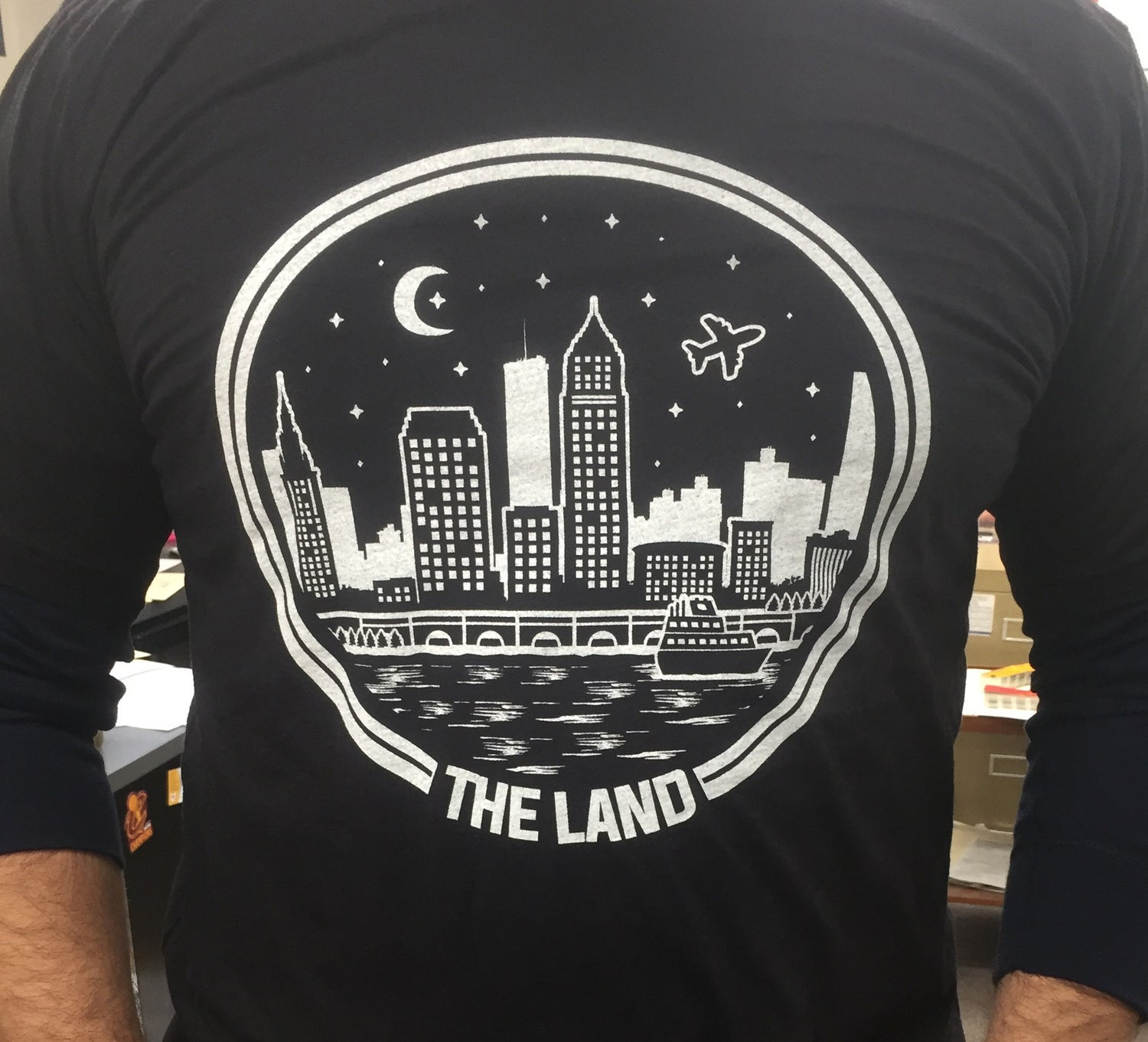 Image of The Land Black Tri-blend Shirt