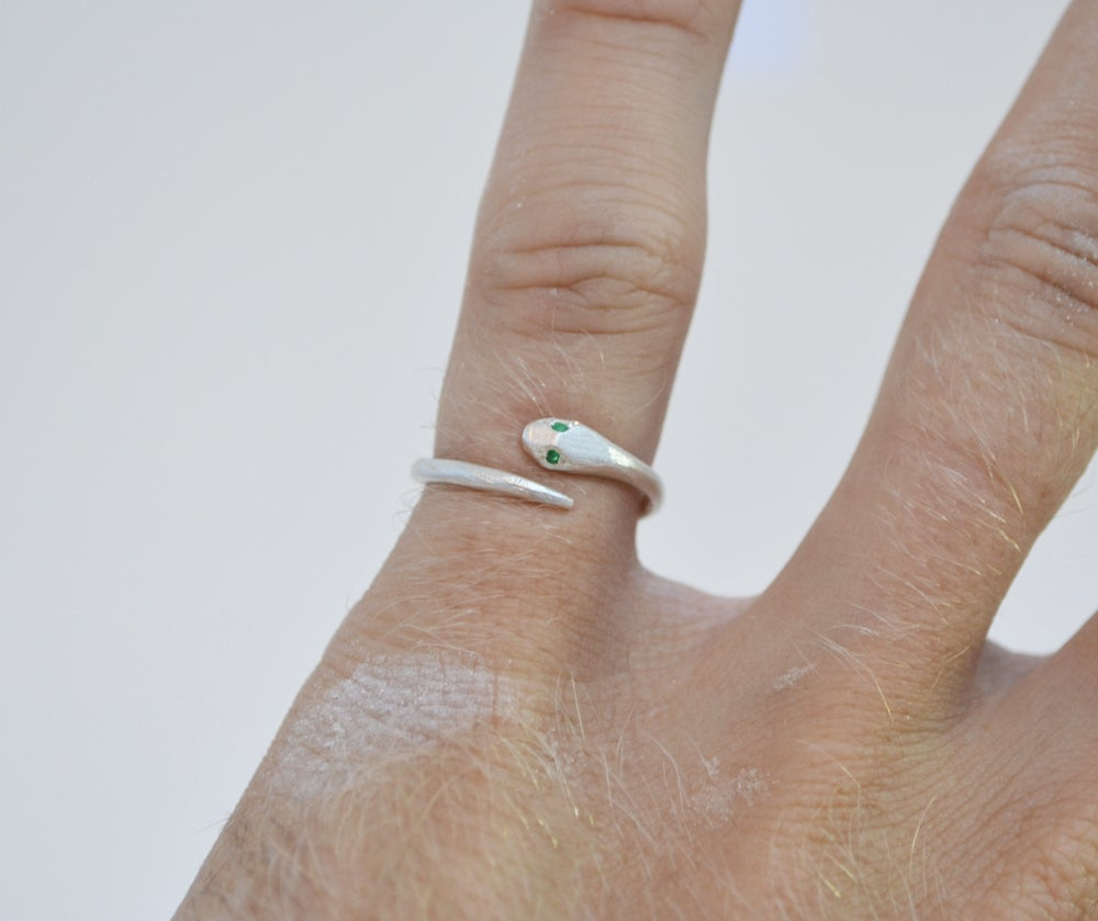 Image of Serpent Ring silver