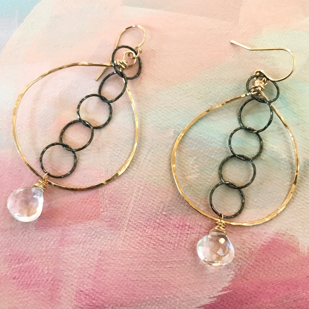 Image of Mixed metal chain Earrings