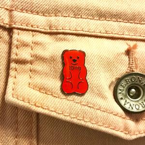 Image of 10mg Edible Bear Pin and Sticker
