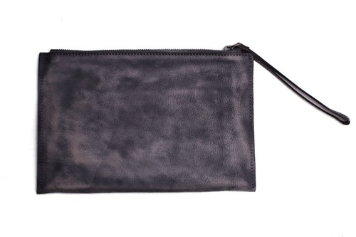 Image of Handmade Full Grain Leather Travel Wallet, Clutch, iPad Bag, Wristlet Bag, Toiletry, Dopp Kit 9060
