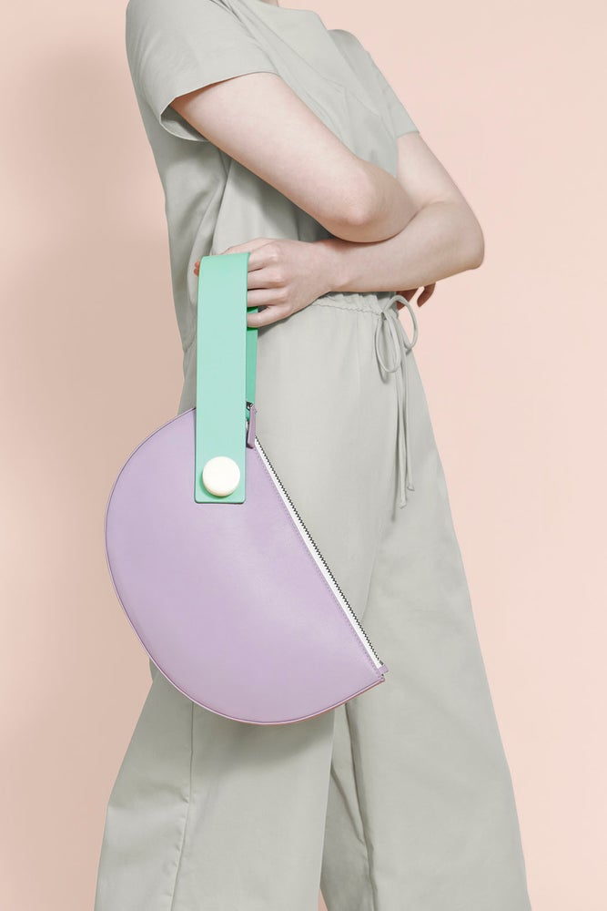 Image of Half Moon Clutch - LILAC/MINT