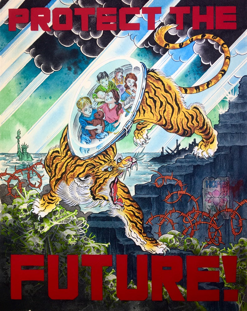 "Image of ""Protect The Future!"" high quality signed 11"" x 14"" giclée print"