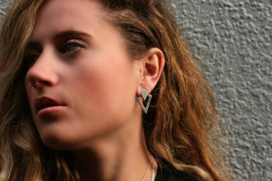 Image of Insignia Back Drop Earrings