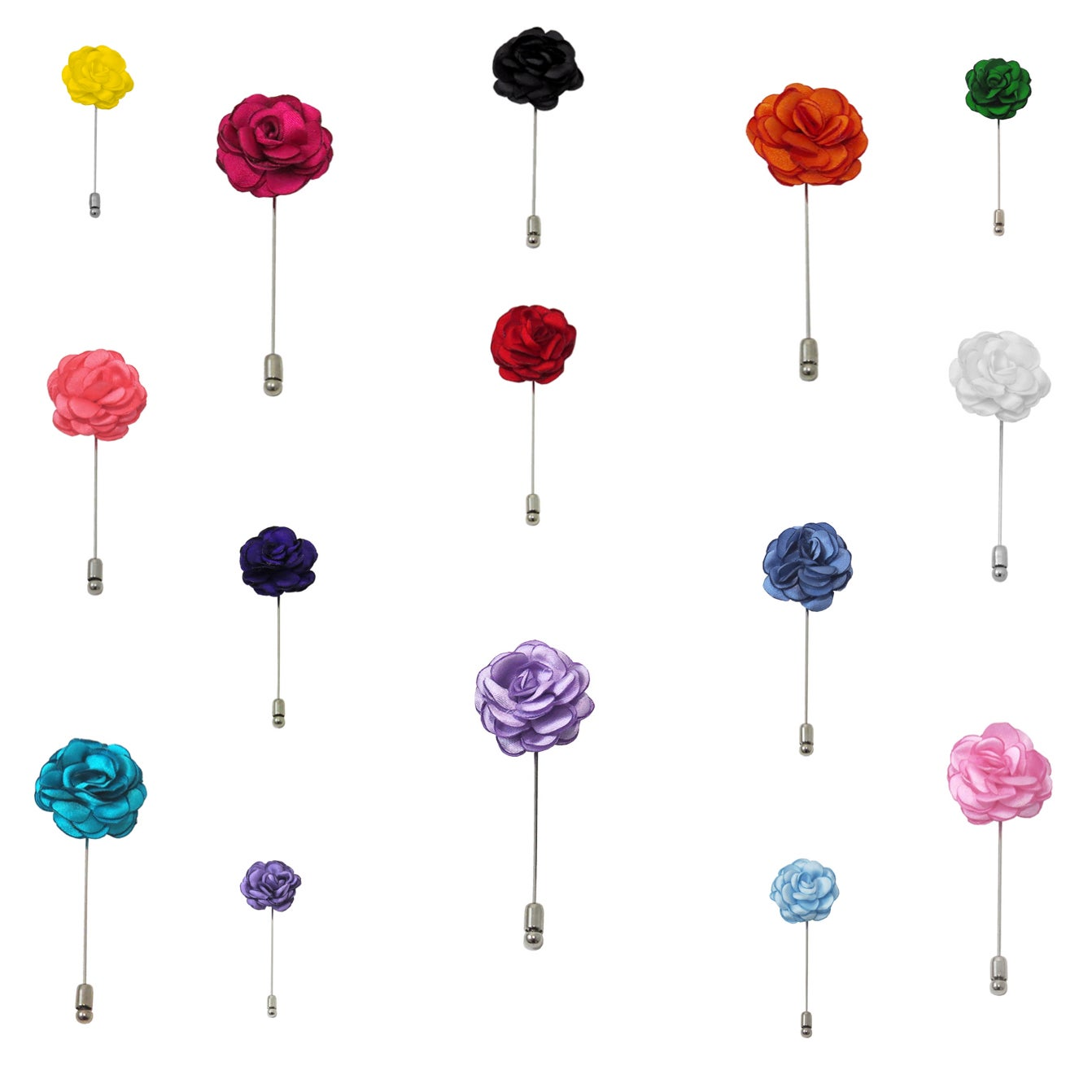 Image of Lapel Flower Pins + Pocket Square