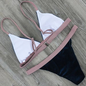 Image of BROWN SUEDE SWIM